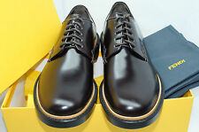 Fendi Men's Shoes Lace Up Oxfords Burgundy Dress Drivers Size 9.5 Leather NIB