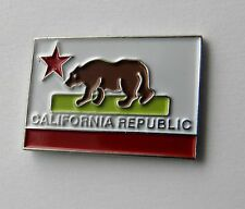 US CALIFORNIA STATE FLAG USA RECTANGLE LAPEL PIN BADGE 1 INCH