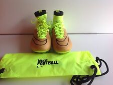 Nike Mercurial Superfly Lthr Fg. Size  9.5  [747219 707] fluorescent Green/brown