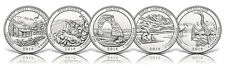 2014-P National Park Quarters 5 Coin Set