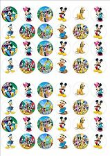 Mickey Mouse Club house fairy cake decoration toppers x 48 on ICING