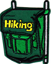 """HIKING"" BACKPACK- Iron On Embroidered Applique Patch- Sports, Hiker,Outdoors"