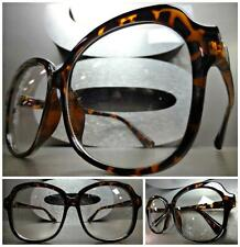 OVERSIZE VINTAGE RETRO Style Clear Lens EYE GLASSES Thick Large Tortoise Frame