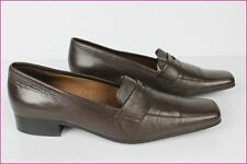 Mocassins  SALAMANDER France Cuir Marron T 36 TBE