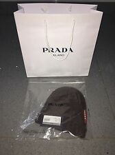 BNWT 100% AUTHENTIC MEN'S Prada Berretto lana (Beanie) Sombrero! Teca Marrón! Talla 48