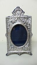 GMG ANTIQUE STYLE ENGLISH .958 STERLING SILVER PICTURE FRAME, SITE 3.75 x 5.25