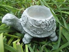 latex / plastic backup flowered latex turtle concrete mold candle holder mold