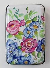q fresh blue floral CREDIT CARD HOLDER CASE rfid Identity theft blocker