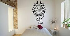 Wall Room Decor Art Vinyl Sticker Mural Decal Tribal Animal Flame Wolf FI574