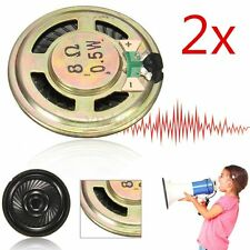 2pcs Mini Speaker 36mm 8Ohm 8Ω 0.5W Audio Altoparlanti Stereo Woofer Loudspeaker