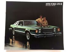 1978 Ford LTD II and Brougham 12-page Original Car Sales Brochure Catalog
