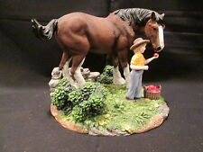 ANHEUSER-BUSCH 1999 Budweiser Clydesdale Collection 'An Apple for King' Figurine