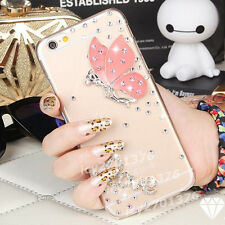 Shine Bling Transparent Clear Crystal Gem Diamonds Back PC shell Case Cover Skin