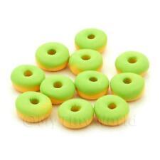 5 Miniatura Para Casa De Muñecas Verde Lima Donuts Helados
