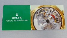 "GENUINE ROLEX ""FACTORY SERVICE BOOKLET"" INFORMATION BOOKLET - BUY IT NOW!"