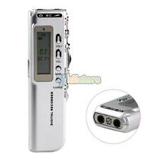 New 8GB Digital Activated Audio Voice Recorder Dictaphone MP3 LCD Display Silver