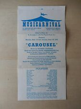 September 1958 - Thistledown Race Track Playbill - Carousel - Joan Bentley