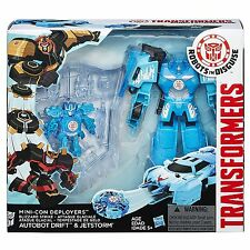 TRANSFORMERS ROBOTS IN DISGUISE BLIZZARD STRIKE AUTOBOT DRIFT & JETSTORM FIGURES