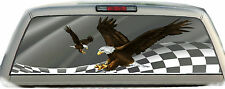 Flag Eagles Racing #01 Rear Window Vehicle Graphic Tint Truck Stickers Decals