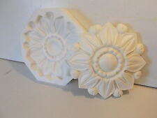 LARGE TUDOR ROSE ~ SILICONE RUBBER MOULD PLASTER RESIN