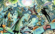 "One Piece Poster Strong World Anime Art Wall Huge Silk Poster 24x38"" OP6"
