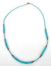 Sterling Silver and Turquoise Bead Heishi Necklace