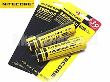 Nitecore 18650 3200 NL188 3.7v Protected Li-ion Rechargeable Battery x4
