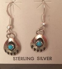 Navajo Native American Bear Paw Earrings with Free Shipping