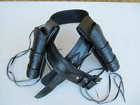 """WESTERN DOUBLE HIGH RIDER CROSSDRAW HOLSTER  LEATHER COWBOY CAL.38/.357 BELT 34"""""""