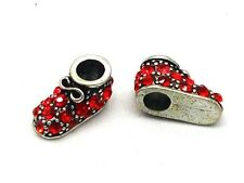 SPARKLY RED BABY/SHOE BOOTIE BEAD EUROPEAN CHARM BRACE
