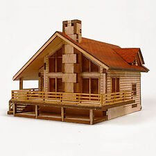 GARDEN HOUSE Model Kit Wooden Unassembled Kits Educational Architectural Kits