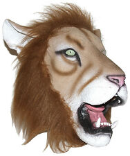 ADULT LATEX LION MASK MADAGASCAR JUNGLE ANIMAL LION KING COSTUME MASKS 65641