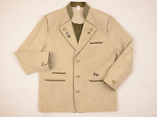 Trachten veste en cuir et daim taille 52 uk 42R chasse loden homme hommes autrichien
