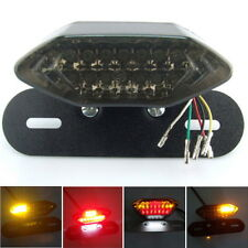 LED Motorcycle Quad ATV Tail Turn Signal Brake License Plate Integrated Light BE