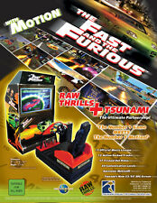 Tsunami THE FAST AND THE FURIOUS Original 2004 NOS Video Arcade Game Sales Flyer