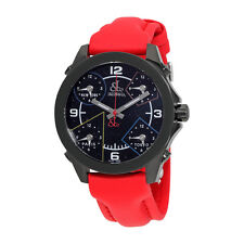 Jacob and Co. Five Time Zone Black Dial Red Strap Unisex Watch JCM-80BC