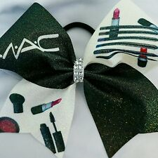 Cheer Bow - MAC Makeup - Glitter - Hair Bows