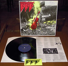 LP F.F.F. Electric violin thrash (Hyperactive 89)German hc punk insert sticker M
