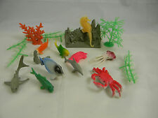 Ocean Animals & Plant Set w/ Sea Creatures & Fish Plastic Play Set 20 pieces