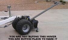TRAILER MOVER PLANS- 12V Electric Power Dolly Caster