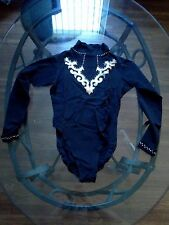 Vintage Barton G. Long Sleeve Studded Body Suit Mock Neck lingerie NEW! Medium