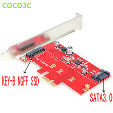SATA 3.0 M.2 SSD PCI-e Card PCI express to SATA 6Gbps NGFF B Key Adapter ASM1061