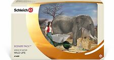Schleich Elephant Care Set - 41409 New Wild Life World Of Nature