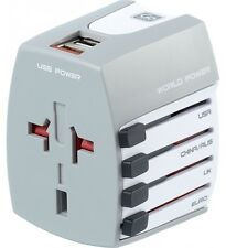 GO Travel Worldwide USB Universal Travel Plug With 2 USB Ports 402