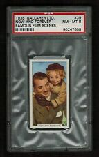 PSA 8 SHIRLEY TEMPLE 1935 Gallaher Cigarette Card #39 with Gary Cooper