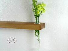 Mini Wandregal + Reagenzglas Vase Buche 40cm Wandvase Regal Wandboard Board