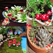 20Pcs/Set Dollhouse Mini Red Mushroom Garden Ornament Miniature Plant Pots Fairy