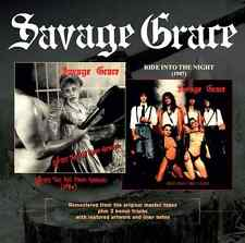 SAVAGE GRACE - After The Fall From Grace & Ride Into The Night CD Remastered +3