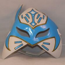 WWE, Sin Cara Mask, blue and white, child's costume toy, 2012, Mattel