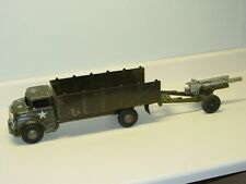 Vintage Marx, Lumar U.S. MilitaryTruck With Cannon, Pressed Steel Toy Vehicle